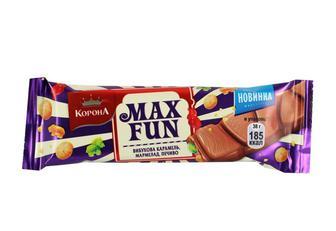 Шоколад Корона MaxFun мармел/печиво/карам.мол.38г