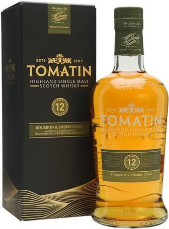 Виски Tomatin 12 Y.O. (в коробке) 0.7л