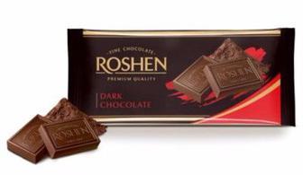 Шоколад екстрачорний, Рошен, 90 г