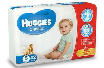 Подгузники Huggies Classic Jumbo р.5 (11-22 кг) 42 шт
