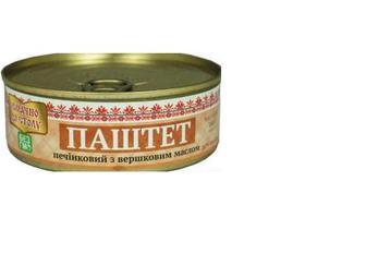 Паштет печінковий з вершковим маслом, Охтирка м'ясопродукт, 240 г