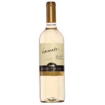 Вино Шардоне Савиньон блан Вайнмейкер белое п/сл, 0,75 л