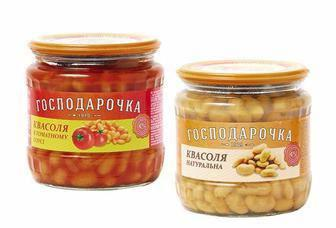 Квасоля натуральна/ в томатному соусі Господарочка 450г