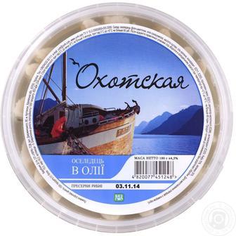 Оселедець філе в олії Охотська 180 г