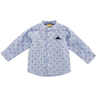 """Голубая рубашка для мальчика """"Fly!"""""""