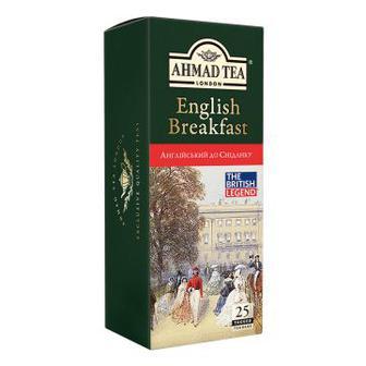 Чай чорний Англійський до Сніданку Ахмад 25 пакетиків