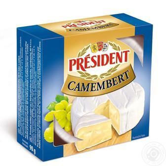 Сир м'який Камамбер President 90г
