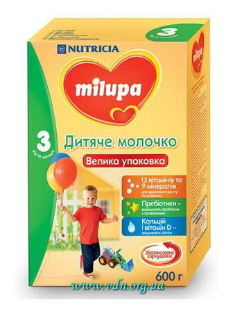 Молочная смесь Milupa 3 Дитяче молочко 600г