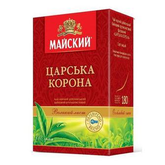 Чай чорний крупнолистовий Царська Корона Майський 180г