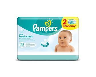 Серветки дитячі Pampers Baby Fresh Clean Duo 128 (2х64) шт./уп