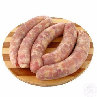 Ковбаски Домашні свинячі охолоджені 1 кг
